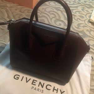 AUTHENTIC Givenchy Small Oxblood Antigona &Wallet